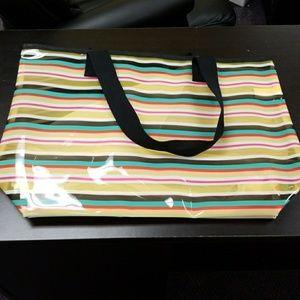 last chance Mossimo multi striped plastic tote